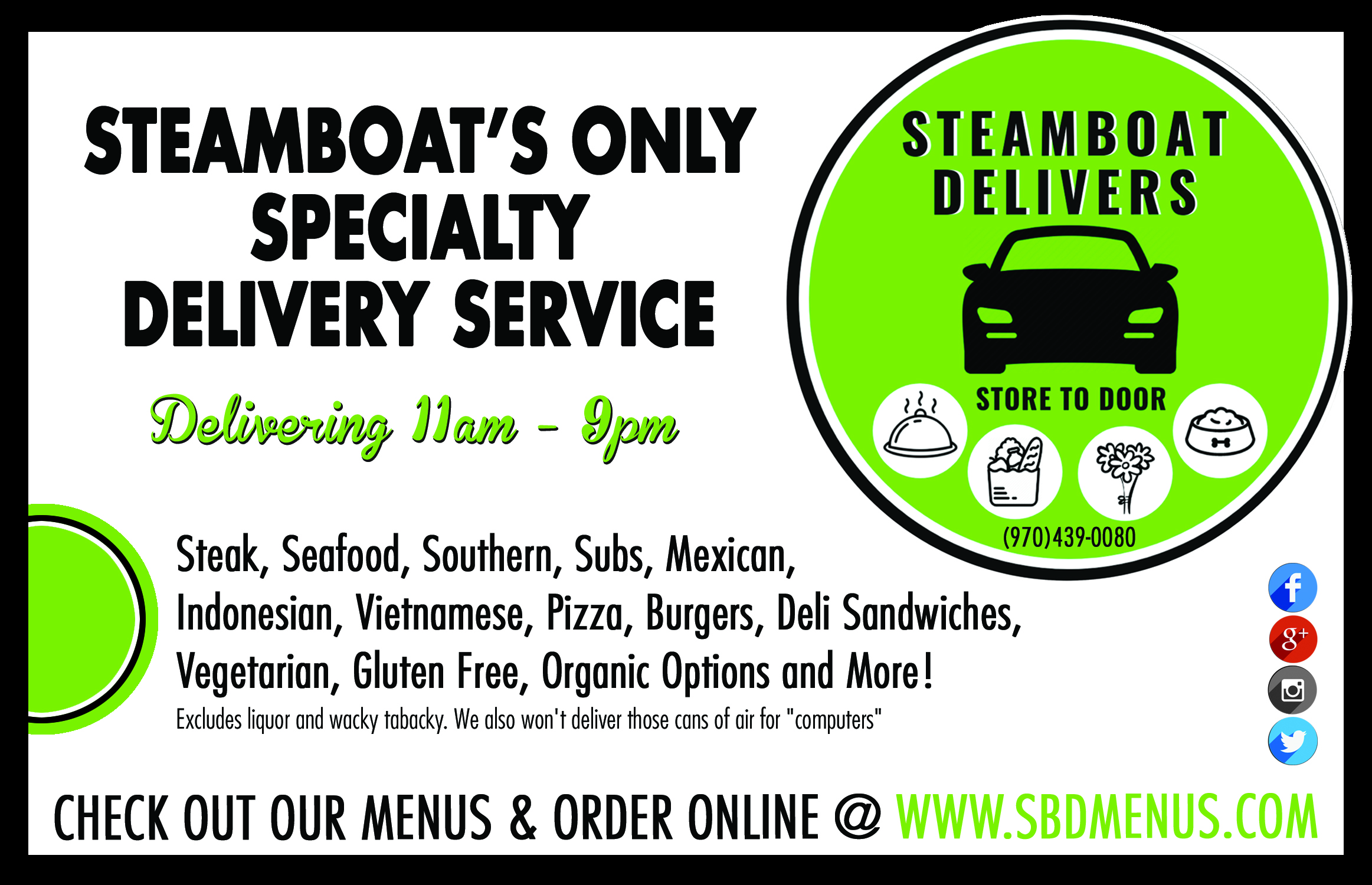Steamboat Delivers
